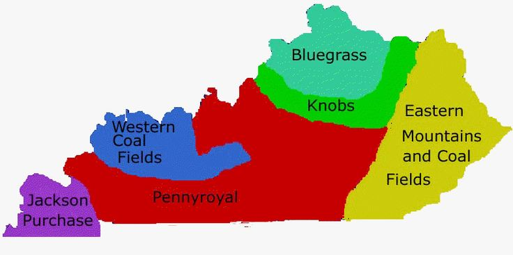 Kentucky is composed of five geographic regions