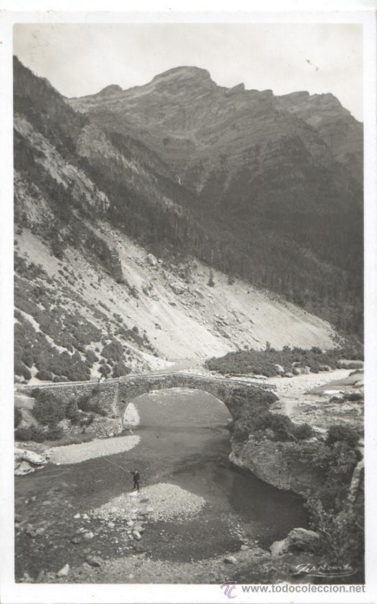 POSTAL DE ESQUI ALTA MONTAÑA -bujaruelo - pirineo huesca nº 713 puente antiguo - Foto 1