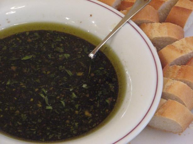 Dipping Oil for Bread .... I have made this and it's so, so good with toasty bread.