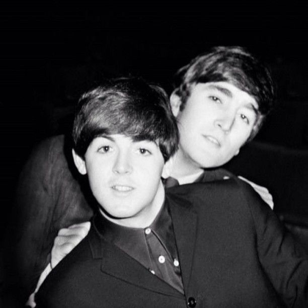 John Lennon And Paul Teenager