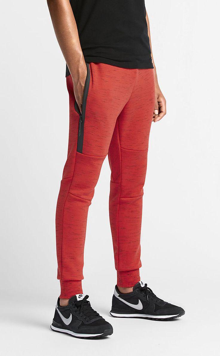Red Nike Tech Fleece Pants December 2017