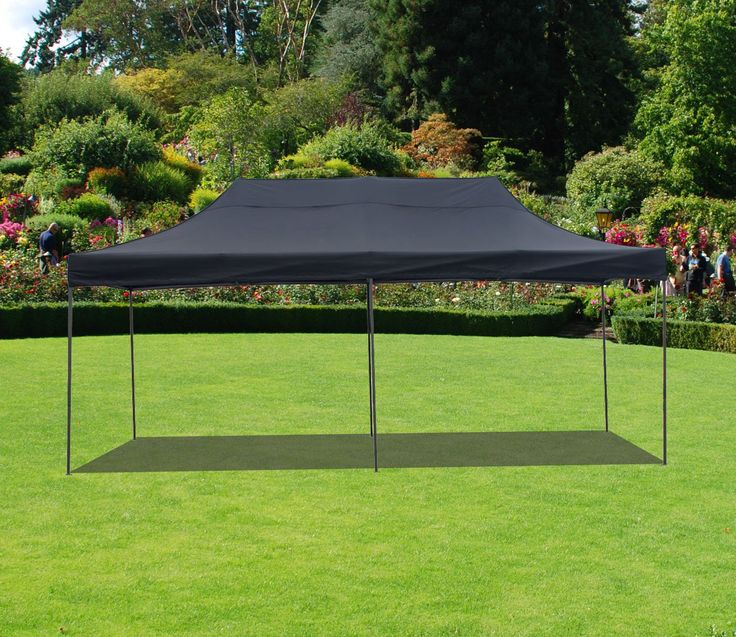American Phoenix 10x20 Multi Color and Size Portable Event Canopy Tent, Canopy Tent, Party Tent Gazebo Canopy Commercial Fair Shelter Car Shelter Wedding Party Easy Pop Up (Black, 10x20)