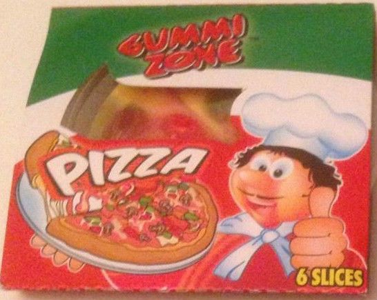 Gummy Zone Mini Pizza Slice Gums Party RETRO SWEETS & CANDY 4, 8, 12
