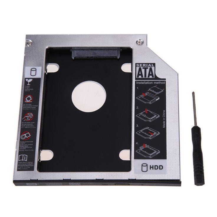9.5mm Universal SATA 2nd HDD SSD Hard Drive Caddy for CD/DVD-ROM Optical Bay High Quality