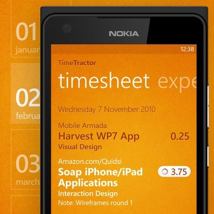 TimeTractor for Harvest App design by Tony Armendariz. - Best Mobile Designers In The World | Scoutzie #digitaldesign #design #app