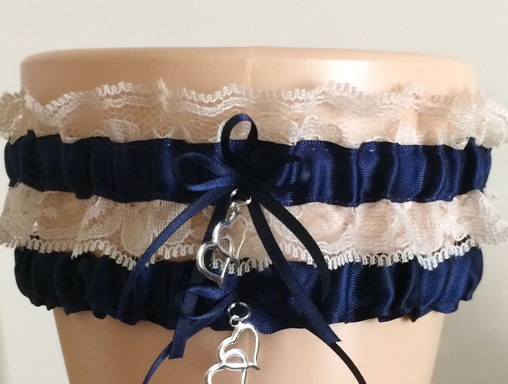 Wedding Garter Bridal Sets Navy Blue And Tan Lace Set