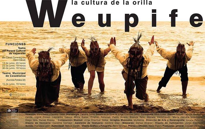 Montaje interdisciplinario Weupife, la cultura de la orilla en el PCdV #Valparaíso este viernes 14 de junio
