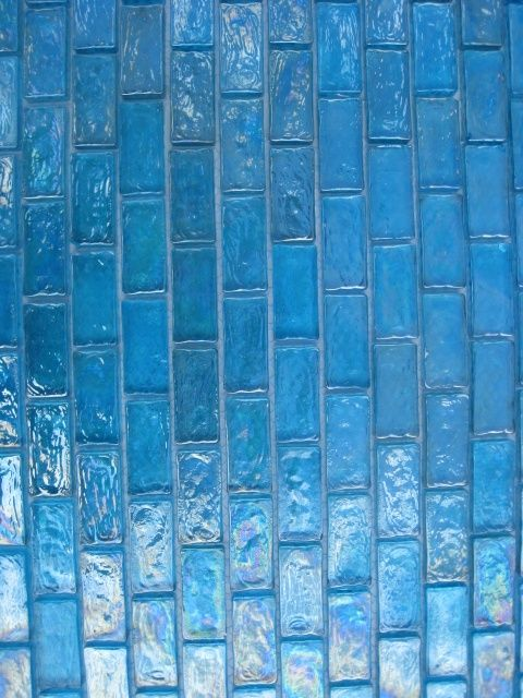 Candy Turquoise Iridescent Subway Mosaic Glass Tile