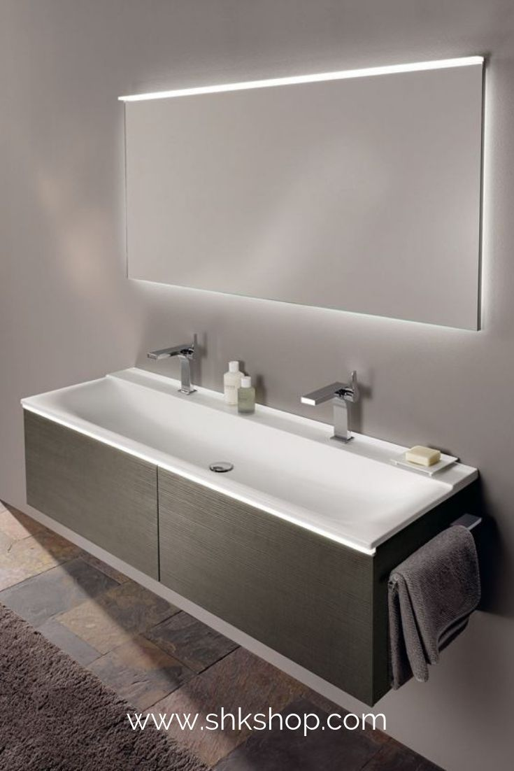 Keramag Xeno 2 Washbasin With 2 Tap Holes And Without Overflow