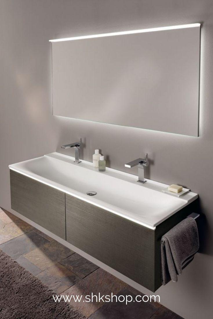 Keramag Xeno 2 Waschtisch Mit 2 Hahnl Chern Und Ohne Berlauf 160x48cm Weiss 500279001 In 2020 Doppelwaschtisch Waschtisch Badezimmer