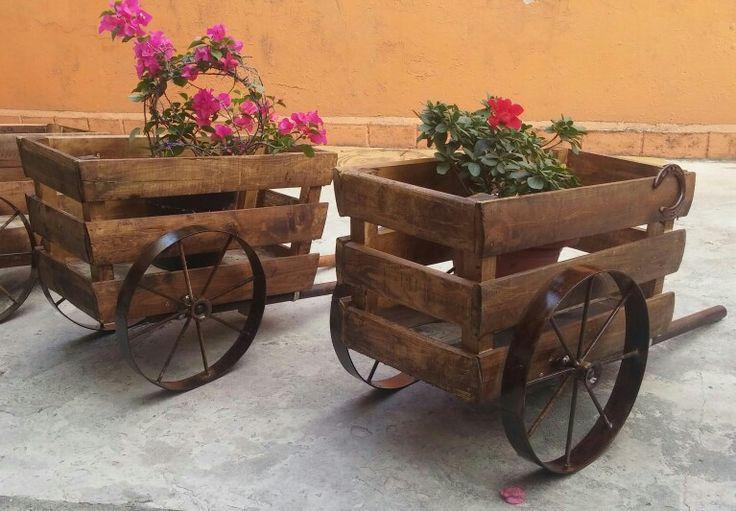 Hermosas carretas para flores!!