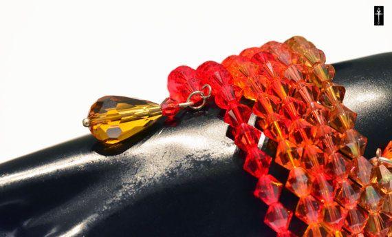 Handmade Swarovski Crystal  Beaded  Bracelet memory by BYTWINS