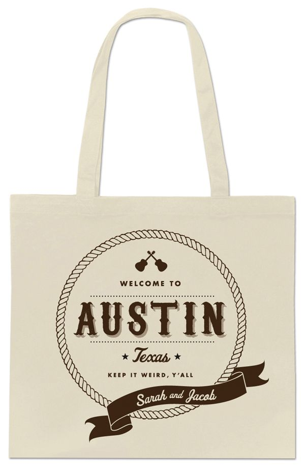 Adorable Austin tote design by The Creative Parasol. Free download to take to your screenprinter!