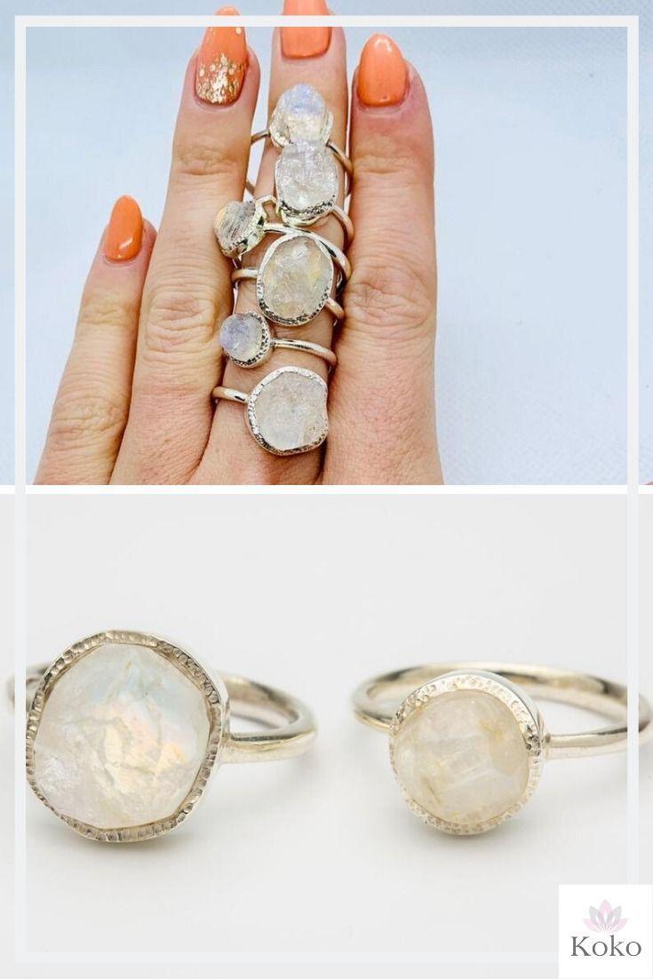 Moonstone ~ Precious Stone ~ Silver Ring