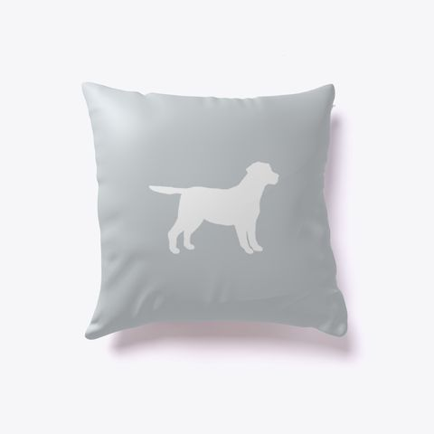 Labrador Retriever Dog Outline Pillow Light Grey. Are you a lab lover? Get our Labrador Retriever outline pillow! Perfect for those with fine taste in dog breeds.