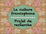 Projet : La culture francophone