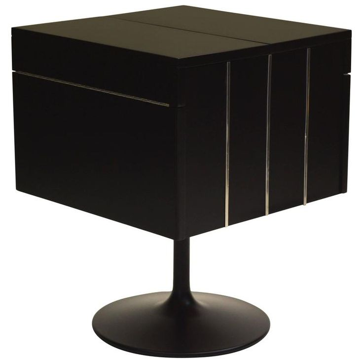 Exceptional Rotating Swivel Cocktail Dry Bar On Pedestal Base In Black  Lacquer. Dry BarsBedfordFurniture ...