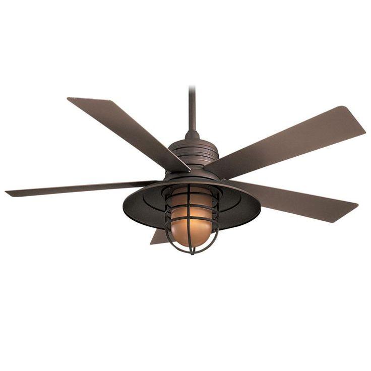 Industrial Looking Ceiling Fans Part - 47: Minka Aire Rainman Ceiling Fan In Oil Rubbed Bronze - Transitional - Ceiling  Fans - Hansen Wholesale