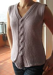 Ravelry: Twisted Rib cable tank pattern by Angela Hahn