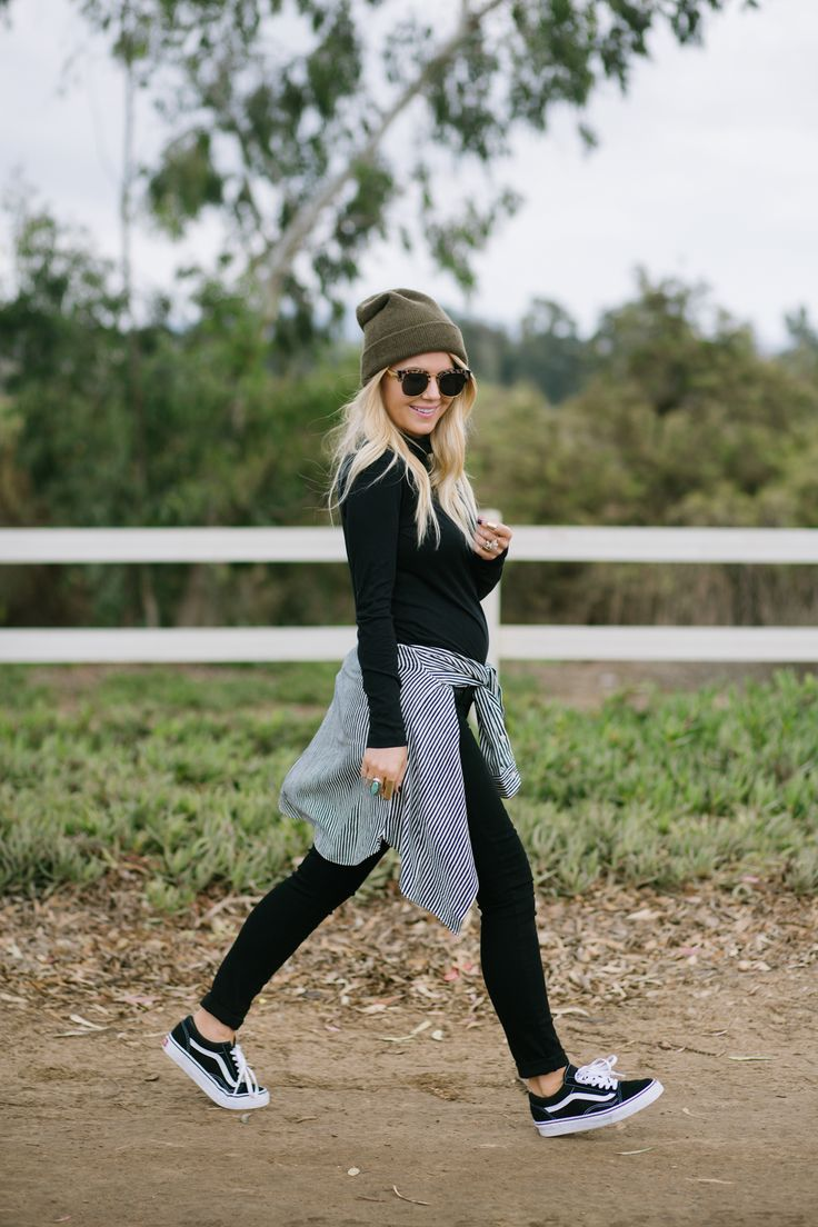 Lisa Allen of LunchPails and Lipstick wearing Madewell and Vans