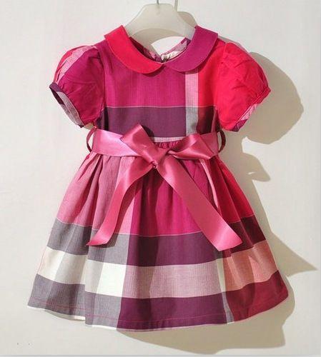 Plaids & Checks Baby Girls Dress Summer Cotton Dress Party Toddler Kids…