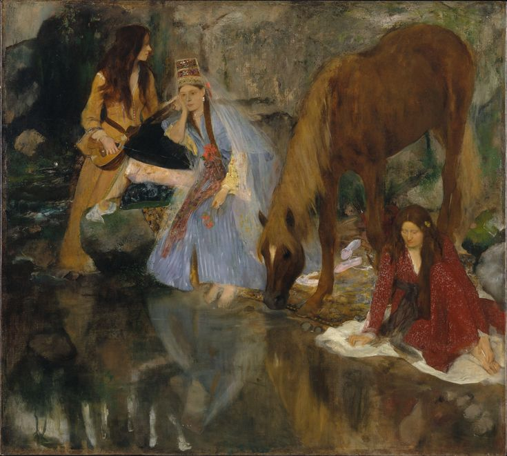 Blue Dancers, 1890, Painting by French Impressionist Edgar