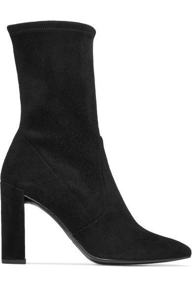 Stuart Weitzman - Clinger Suede Ankle Boots - Black