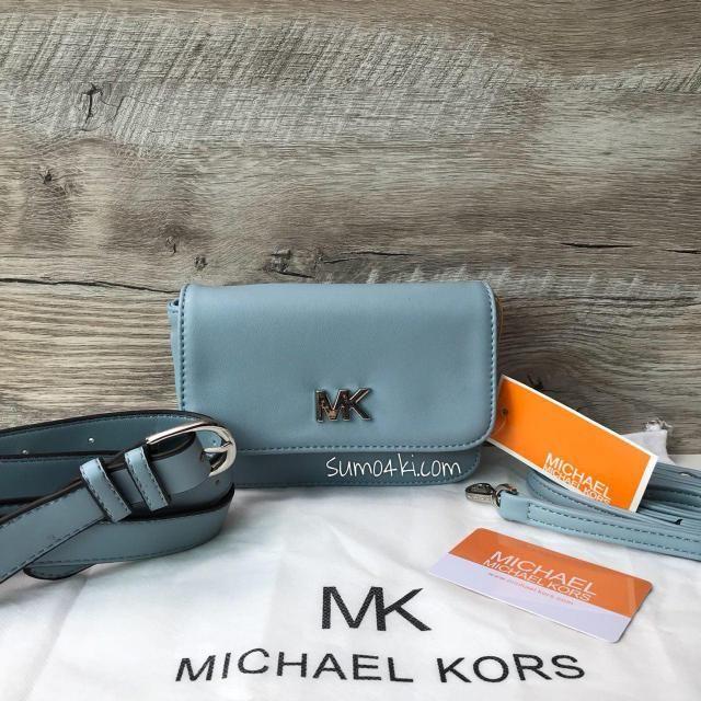 810ec10550ef Женская поясная сумка Michael Kors Цвет : голубой , розовый , красный ,  серебро , черный