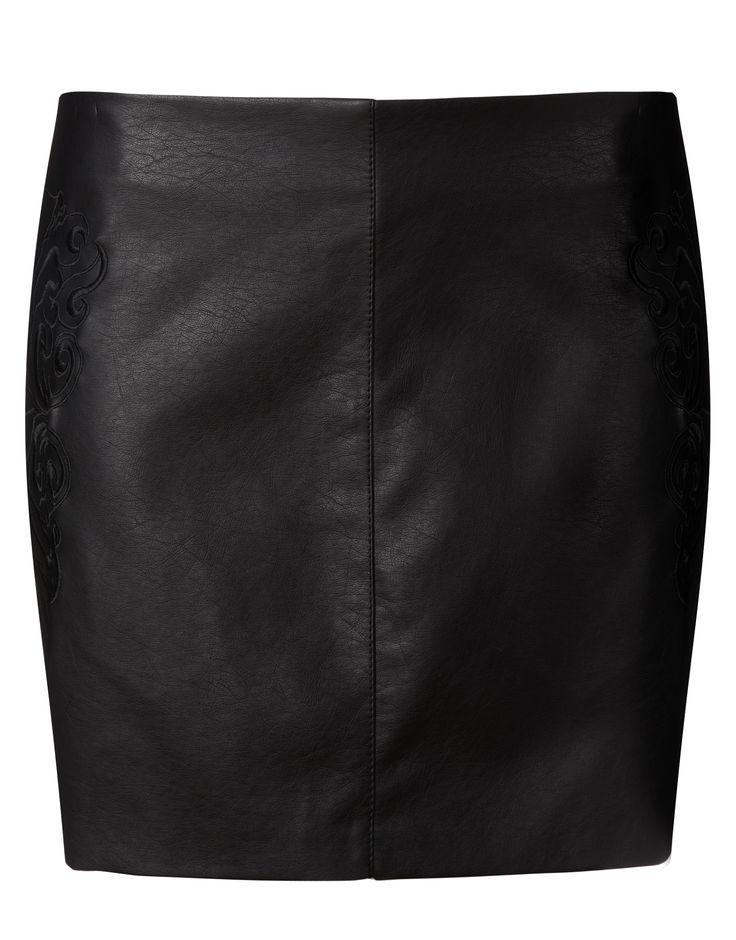 Kardashian Faux Leather Mini Skirt