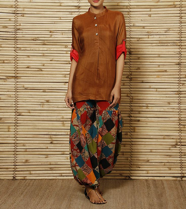 Multicoloured Cotton Pants | House of Qidwa
