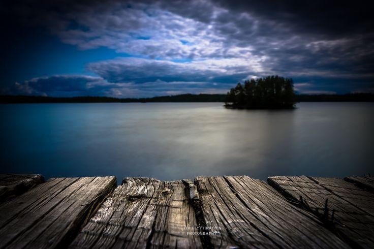 The lake Saimaa - Long exposure photo.