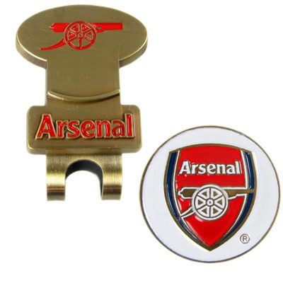 ARSENAL Hat Clip & Golf Ball Marker. Brass Hat Clip With Magnetic Ball Marker. Official Licensed Arsenal merchandise. FREE DELIVERY ON ALL OF OUR GIFTS