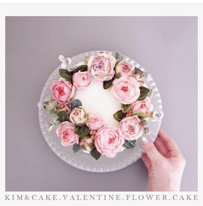 [킴앤케이크] KIM&CAKE 버터크림플라워케이크 안녕하세요!방콕에서 인사드리는 킴앤케이크 버터...