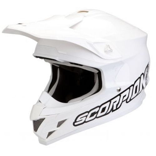 Casque motocross enduro scorpion exo vx 15 solid blanc. http://www.fxmotors.fr/fr/accueil/equipements-motocross/casques/casque-cross-scorpion-exo-vx-15-air-solid-blanc