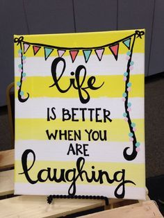 life is better when you are laughing with your best friend canvas - Google Search