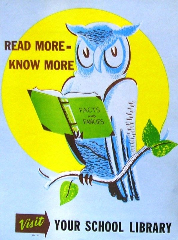 19 Wonderful Vintage School Library Posters