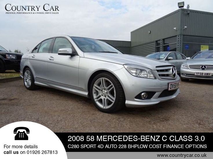 2008 58 MERCEDES-BENZ C CLASS 3.0 C280 SPORT 4D AUTO 228 BHPLOW COST FINANCE OPTIONS.   For more details call us on 01926 267813.
