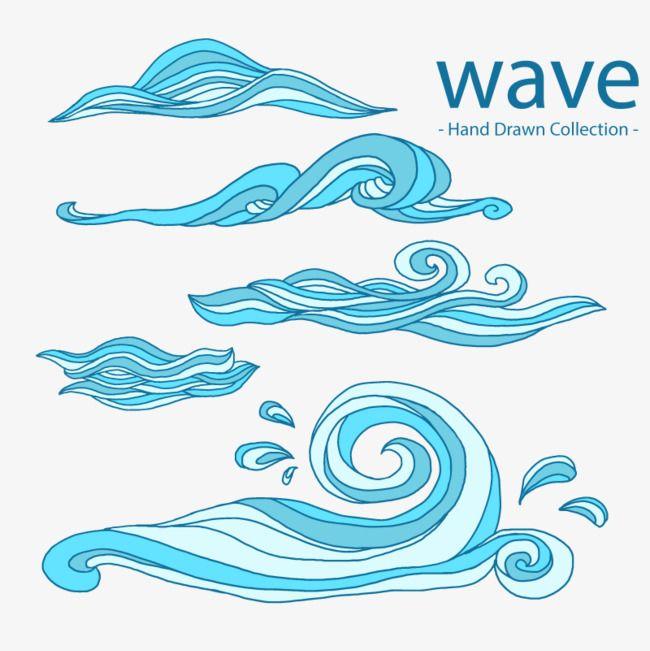Vector Water Waves Wave Illustration Wave Drawing Wave Art