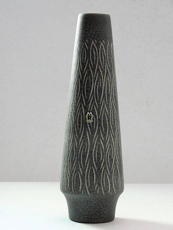 Marzi & Remy Mid Century X-Tall Grey West German Cylinder Vase