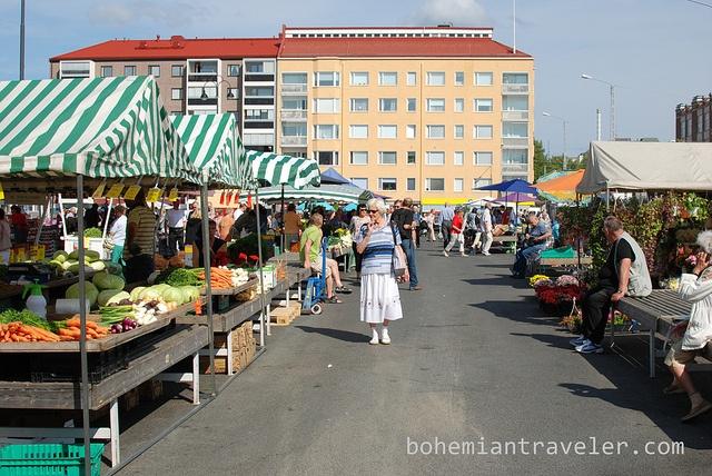 Tammelantori Market Tampere Finland by BohemianTraveler, via Flickr