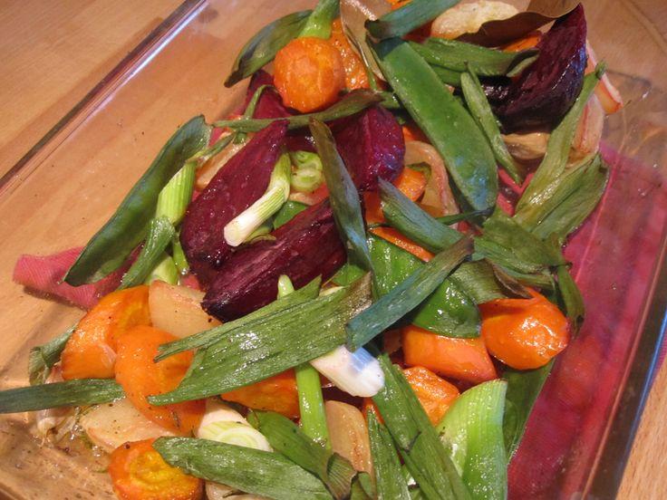 Empty the fridge recept voor geroosterde wintergroenten (wortel, raap, biet, knolselder, pastinaak, ...)