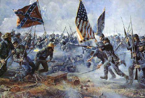 La guerre de Sécession ou guerre civile américaine (généralement appelée « the Civil War » aux États-Unis et parfois de façon polémique « the War of Northern Aggression » par les sympathisants de l'idéologie sudiste) est une guerre civile survenue entre 1861 et 1865 impliquant les États-Unis (« l'Union »), dirigés par Abraham Lincoln, et les États confédérés d'Amérique (« la Confédération »), dirigés par Jefferson Davis et rassemblant onze États du Sud qui avaient fait sécession des…