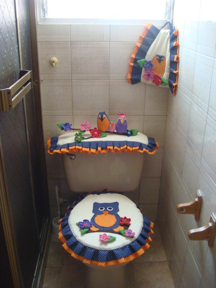 jogho d banheiro de corujas