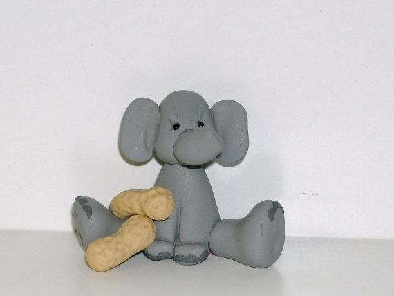 Elephant with peanuts.