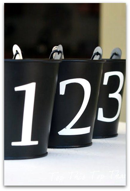 Numbered pots: Barn Pails, Pb Inspired, Diy Craft, Pottery Barn, Inspired Pail, Numbered Pail, Pail Tutorial, Top