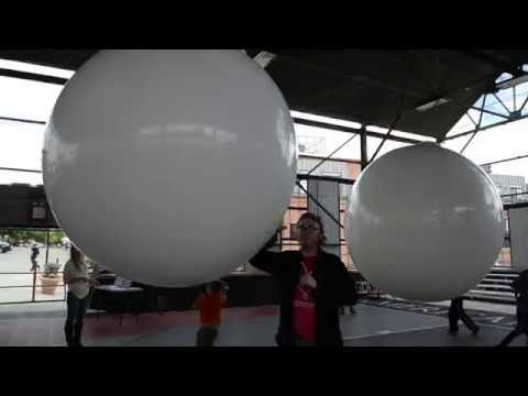 Interactive Beach Ball Synthesizer by IDEO @ Moogfest 2016 - Durham NC - YouTube