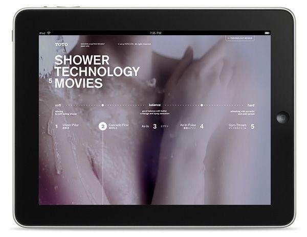 TOTO SHOWER 5 TECHNOLOGY : branding site