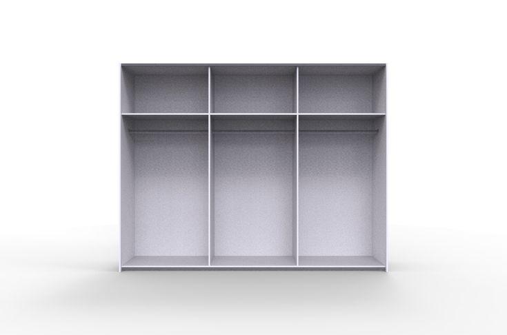 szafa trzy drążki i trzy półki do sypialni i garderoby , model STORE 270