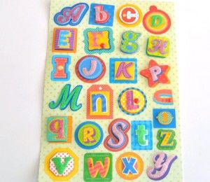 Puff Alphabet Stickers on sale for R28/5 Sheets | Paradise Creative Crafts