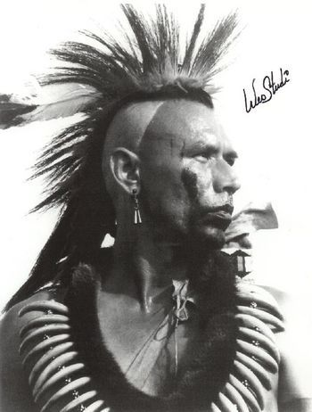 Wes Studi- terrific actor. He played several different indians from different tribes in his life.